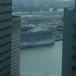Vue en direction du port