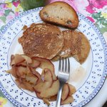 Pancakes and apple