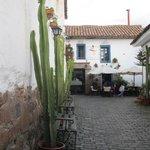 Courtyard street entering Casa San Blas