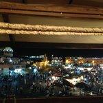 Vista de cima do souk