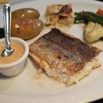 Filet de poisson et ses légumes