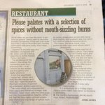 RECOMMENDED RESTAURANT FROM EVENING NEWS 3 MAY 2014