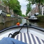 canali di haarlem visti dalla barca