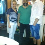together with the restaurant owner