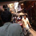 Rickshaw ride in backstreets of New Delhi