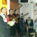 Nightly visit by local musicians