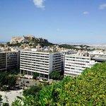 View of Acropolis from Roof top Garden Breakfast