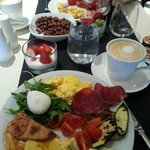 Our breakfast/brunch at the hote;