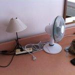tache sur l'abat jour et un simple ventilateur