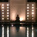 Amazing Buddha at the edge of the swimming pool!