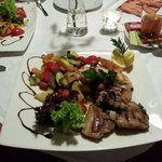 Lamb Chop and Squid, fantastic combination. A must try....