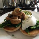 Lovely egg florentine for breakfast