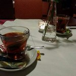Finally, hot tea on a cold day. Great end to a great dinner....