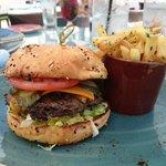 Burger at Beach Bar