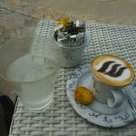 Cappuccino at the pool - very good!