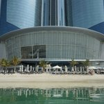 Poolside at the foot of the towers