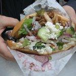Speciale kebab: pane caldo, verdure gratinate...
