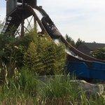 Rocky river falls log flume