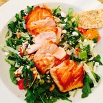Chopped salad with salmon- the best salad I've ever had in my life!!!