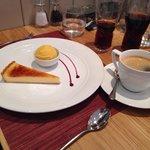 Lemon tart and passion fruit sorbet.. Yummy