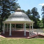 Gazebo overlooking lake