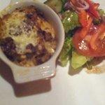 Lasagne, var veldig god !