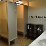 Shared bathrooms in the main lodge
