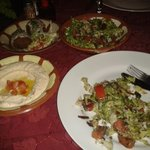 my meal - falafel, houmous, salad, free bread