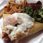 Croque madame - delicious brunch - lovely French cafe