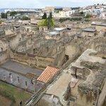 Vista degli scavi do Ercolano dall'ingresso principale