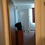 Hallway leading to Bathroom and Bedroom