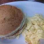 Buttermilk pancake and eggs