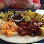 sausage and cheese platter
