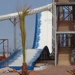 new slides on beach