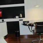 Desk area of bedroom.