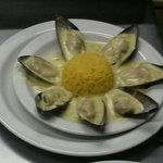 Mussel's in a white wine and creamy garlic sauce