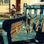 Lovely wee sit at the front of the house to take a seat and sip a wine.