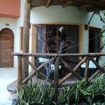 Balcón con hamaca para descansar