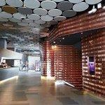 hotel foyer with a futuristic feel