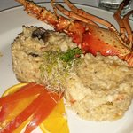lobster and mushroom risotto