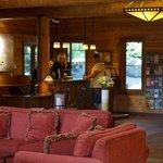 Lobby of lodge