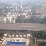 City & pool view