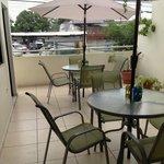 Nice patio dining area