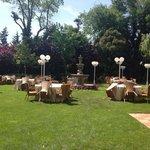 Comedor en el jardin
