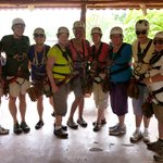 Friends Preparing for 1st Time Zip-Lining