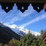 cliché de notre Chambre avec vue sur le Mont Blanc