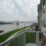view of bridge from room balcony
