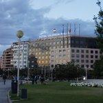 Hotel Ansicht vom Palao de la musica aus gesehen.