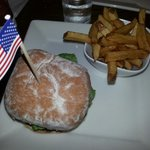 American classic burger and fries