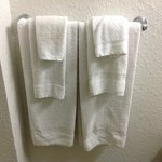 """can you """"spot"""" the dirty spot on that towel? typical of Motel 6"""